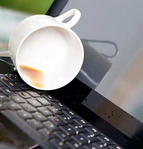 Drink spilled on Laptop