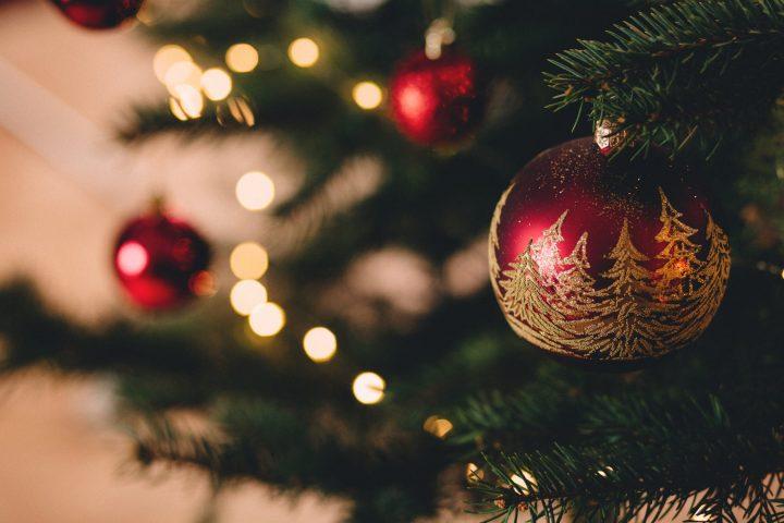 christmas decorations close-up